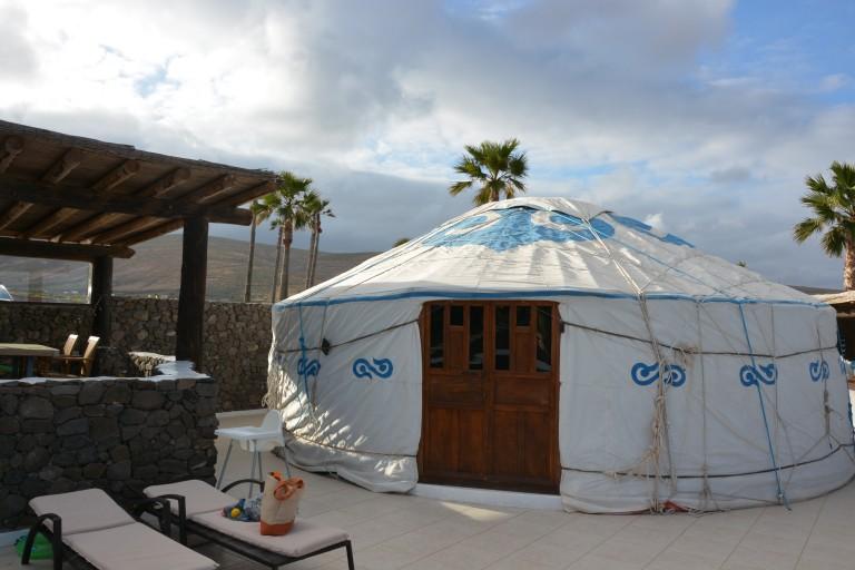 Urlaub in einer Yurte mit Kindern auf Lanzarote