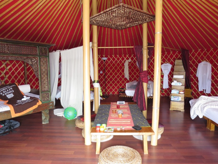 Luxury Yurt Suite from the Inside