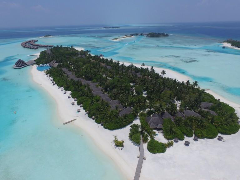 unsere Malediven Insel von oben