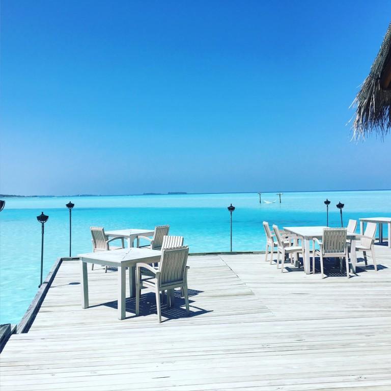 wunderschönes Restaurant auf den Malediven