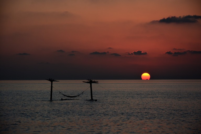Sunset over Maldives