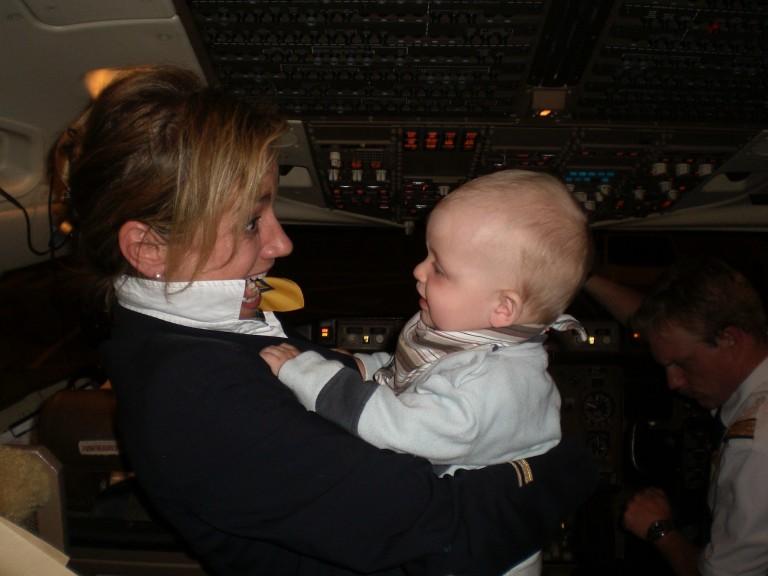 Der Große im Cockpit