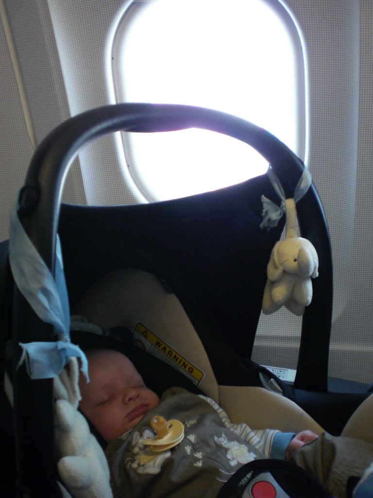 Baby in a plane