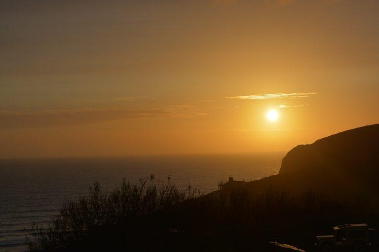 Sonnenuntergang Newquay Cornwall