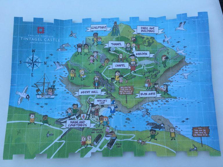 Kinderkarte von Tintagel Castle