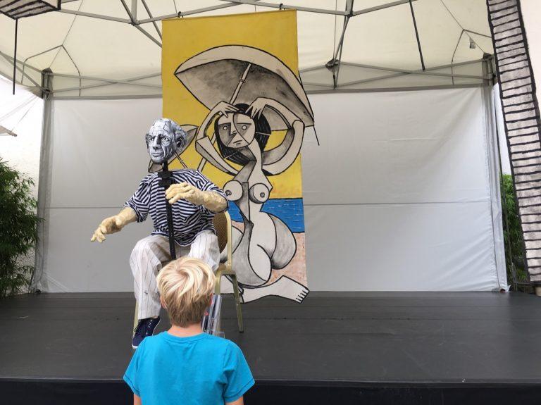 Bühne des Figurentheaters Picasso L'Amoroso