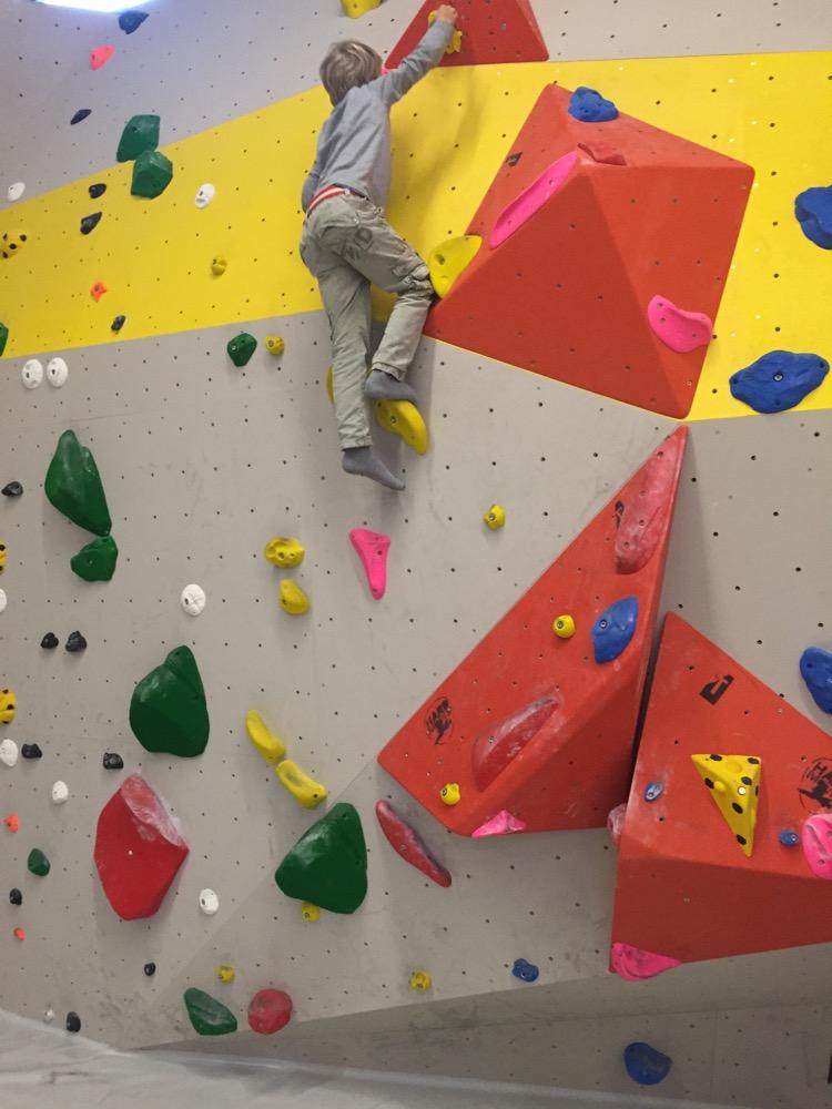Bouldern in der Kletterhalle Freimann