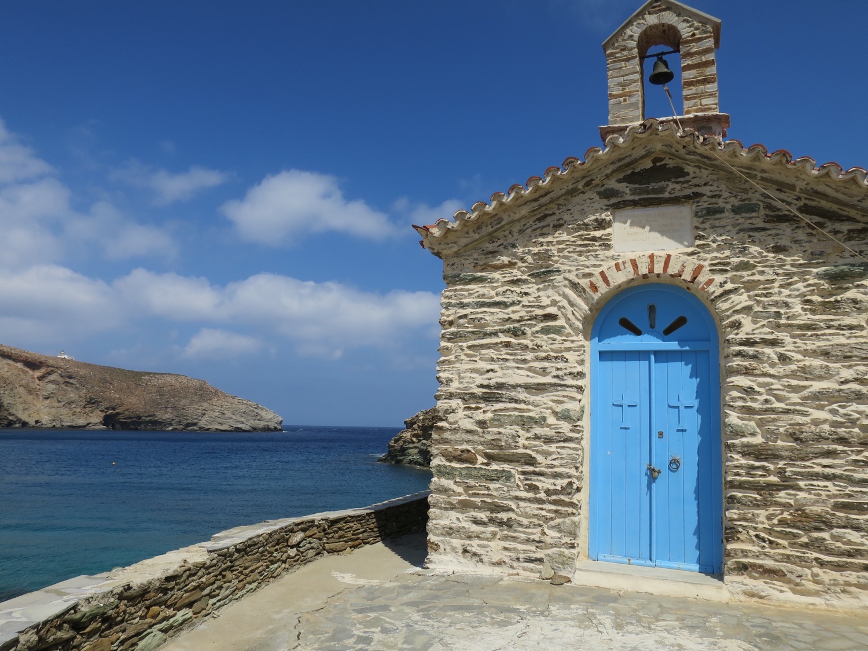 Kirche Ahla (Achla) Beach, Onar, Andros
