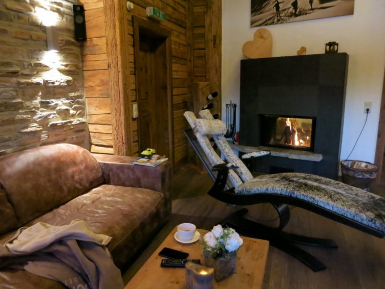 Wohnzimmer Luxuslodge Chaletresort LaPosch
