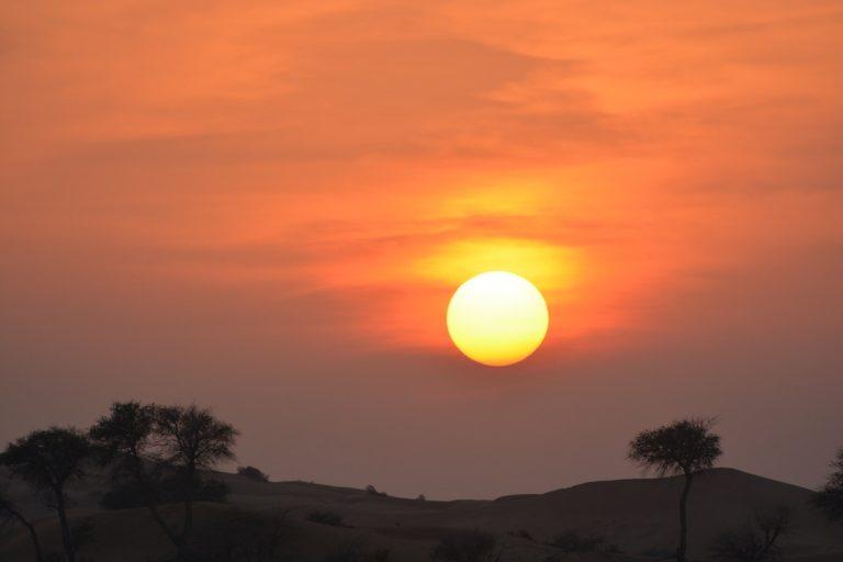 Sunset. View from Moon Bar, al Wadi desert