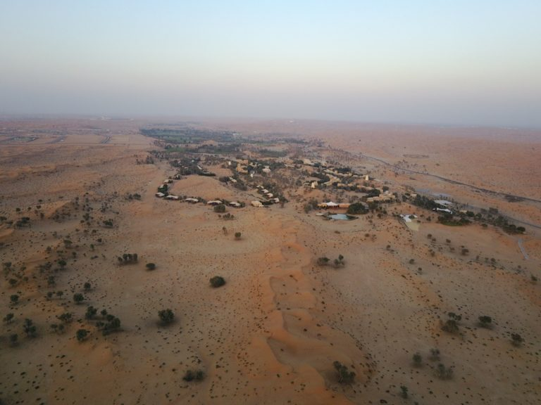 Al Wadi Desert from above with a DJI