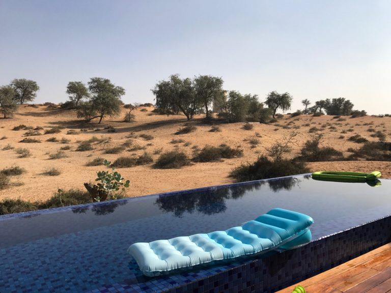 Privatpool, al Khaimah tented pool villa, al Wadi desert