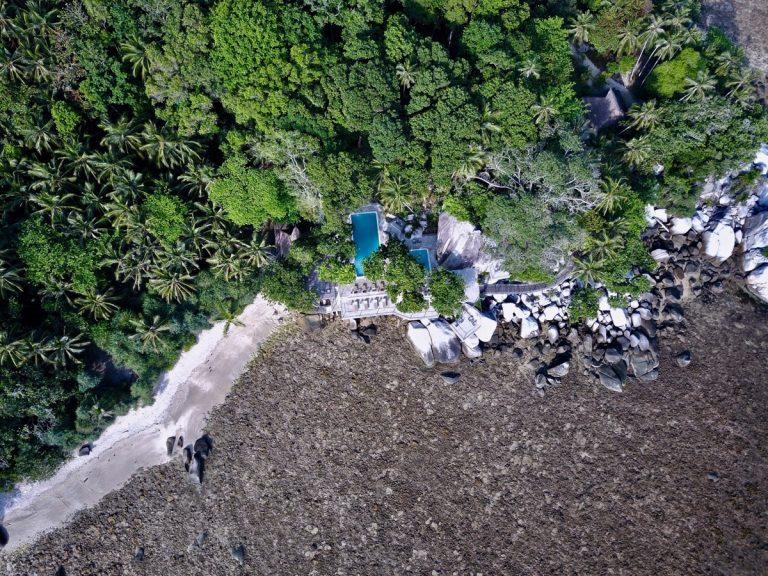 Pool von oben, Nikoi Island