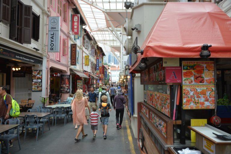 In den Straßen von Chinatown