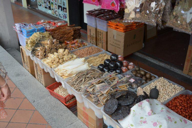 Marktstand Chinatown Singapur