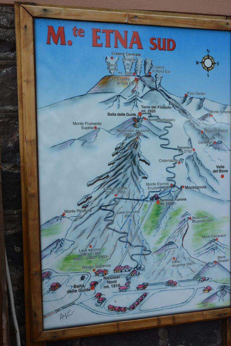 Karte Vulkan Ätna